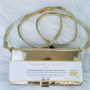 Adrienne Vittadini Gold Charging Wallet w/ strap